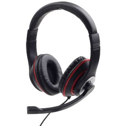 GEMBIRD MHS-03-BKRD Jack Stereo Headset Black with Red Ring