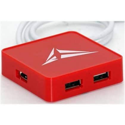Alcatroz Hub 4xusb Ports U-hub S200 Red S200rd