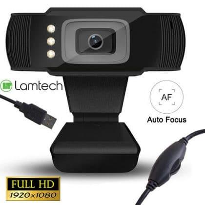 Lamtech Full HD USB Web Camera With Led 1080p
