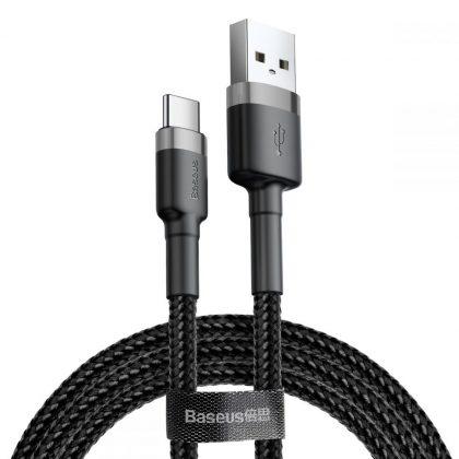 Baseus Cafule USB Type-C Cable 200cm Grey/Black