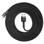 Baseus Cafule Braided USB to Lightning Cable 3m Grey/Black