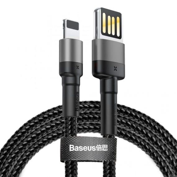 Baseus Cable Cafule For Iphone Lightning 8-PIN 2,4A 1M Grey+Black CALKLF-GG1