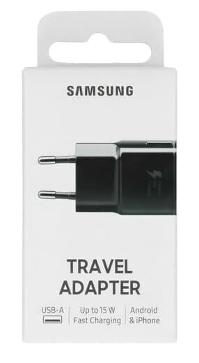 SAMSUNG φορτιστής τοίχου EP-TA20EWE, 15W 2A, μαύρος