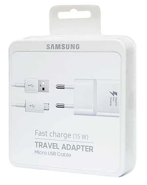 SAMSUNG φορτιστής τοίχου EP-TA20EWE, Micro USB, 15W 2A, λευκός