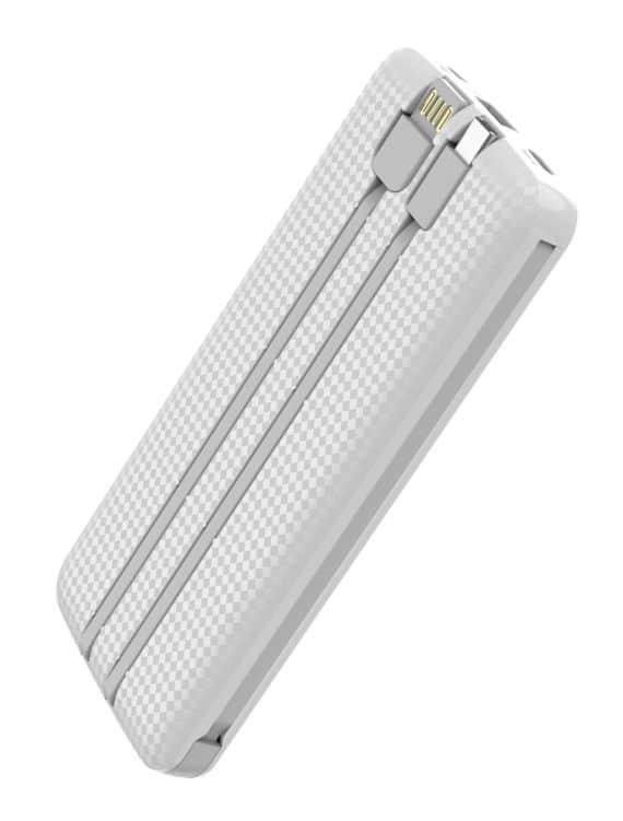 Powertech Power Bank PT-866 10000mAh, 3x Output, 2.1A, λευκό