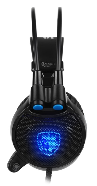 Sades Gaming Headset Octopus Plus με δόνηση, multiplatform, USB, μαύρο