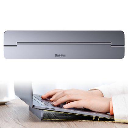Baseus self-adhesive aluminum laptop stand slim and thin dark gray (SUZC-0G)