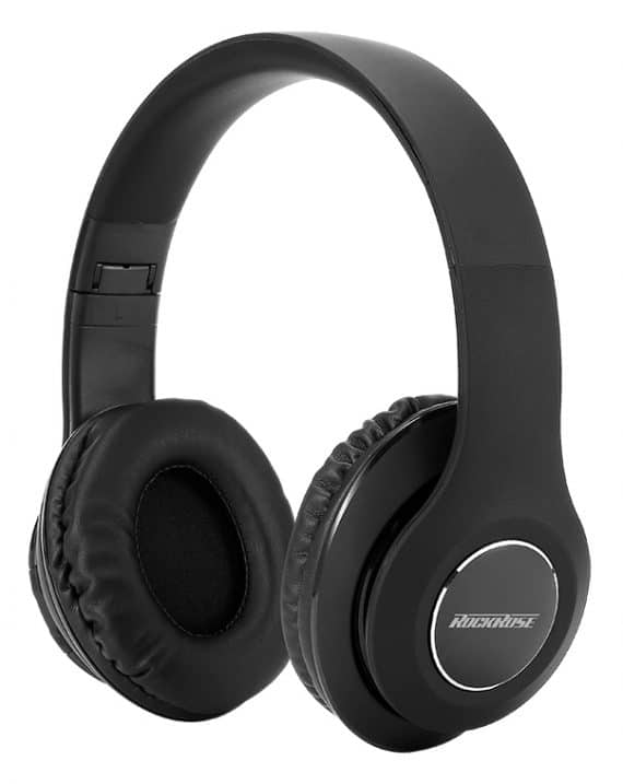 ROCKROSE headphones RRWE06, wireless & wired, BT 5.0, μαύρα