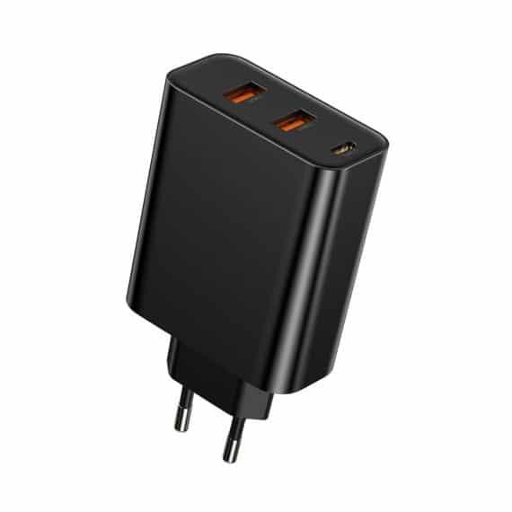 Baseus Speed Quick charger 2x USB / USB-C Wall Adapter black (CCFS-G01)