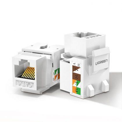Ugreen unshielded network modules Keystone Ethernet Cat 5e λευκό(80176 NW142)