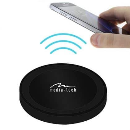 Media-Tech micro USB Wireless Charging Pad (Qi) Μαύρο (MT6270)