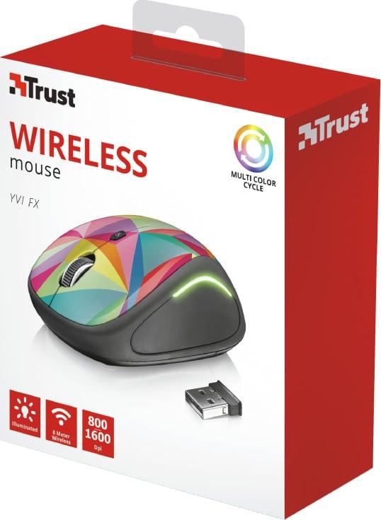 Trust Yvi FX Ασύρματο Ποντίκι Πολύχρωμο (22337)