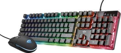 Trust - GXT 838 Azor Gaming Combo (ποντίκι και πληκτρολόγιο) - Ενσύρματο, Μαύρο (23289)