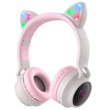 Hoco W27 αυτιά γάτας bluetooth ακουστικά & mp3 player, γκρι