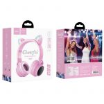Hoco W27 αυτιά γάτας wireless ακουστικά, ροζ