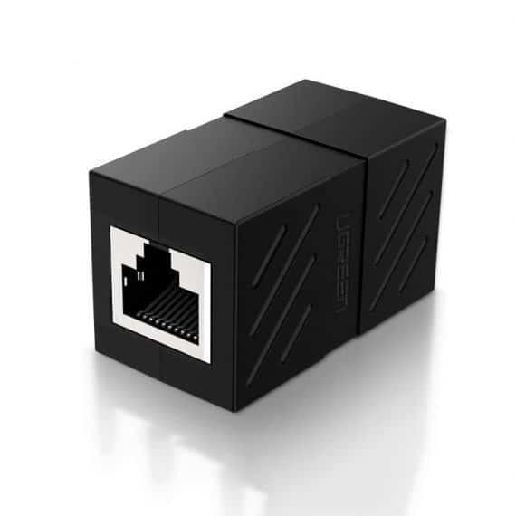 Ugreen σύνδεσμος καλωδίου Ethernet RJ45 10 Gbps, μαύρο (NW114 20390)
