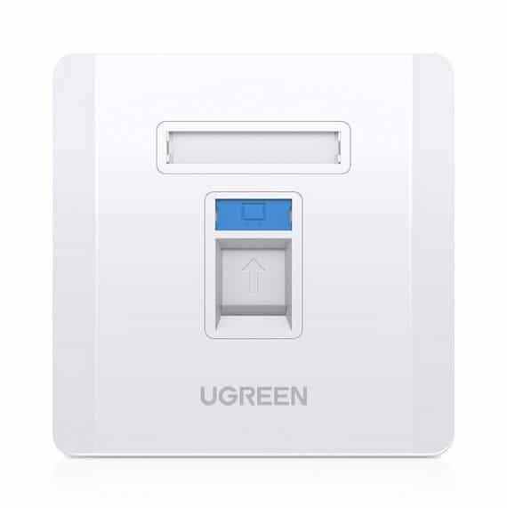 Ugreen επιτοίχια πρίζα internet LAN RJ45 (80180 NW144)