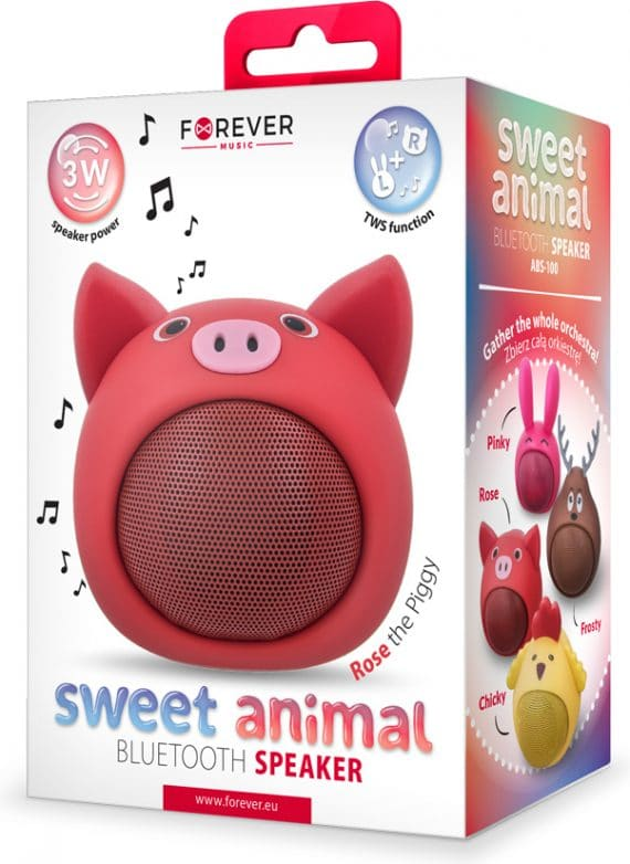 Forever Bluetooth ηχείο Sweet Animal Rose the Piggy ABS-100