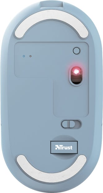 Trust Puck Rechargeable Ασύρματο Bluetooth Ποντίκι Μπλε (24126)