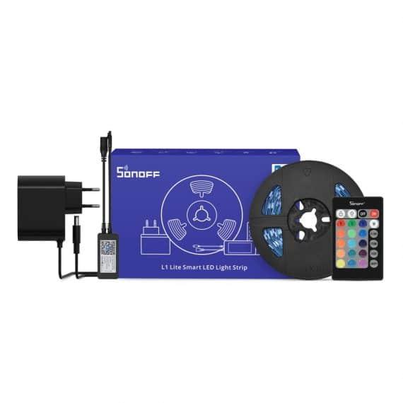 Sonoff Ταινία LED RGB 5m με Τροφοδοτικό και Τηλεχειριστήριο 12V Lite (68311)