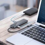 Baseus πολυλειτουργικό HUB Type-C MacBook / PC/ κινητά σκούρο γκρί(CAHUB-EZ0G)